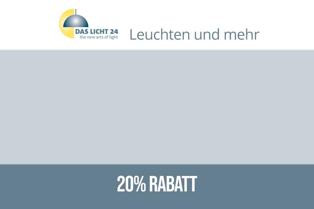 Sichern Sie sich 20% Rabatt bei DasLicht24.de über den Gutscheincode von HausundGarten-Westerwald.de